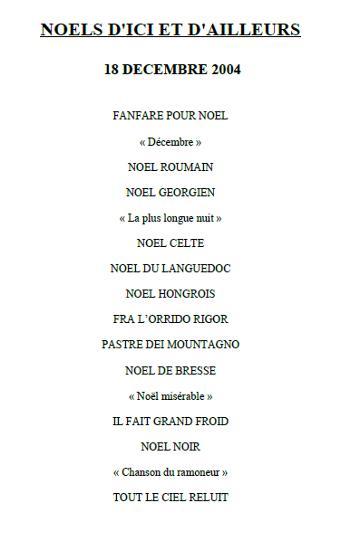 2004-concert-noel-dici-et-dailleurs-programme