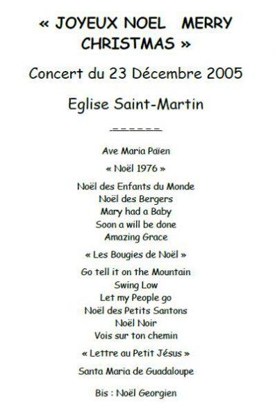 2005-concert-joyeux-noel-merry-christmas-programme
