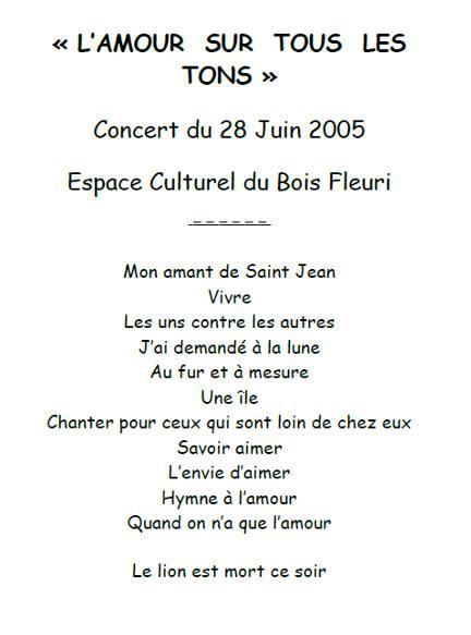 2005-concert-lamour-sur-tous-les-tons-programme