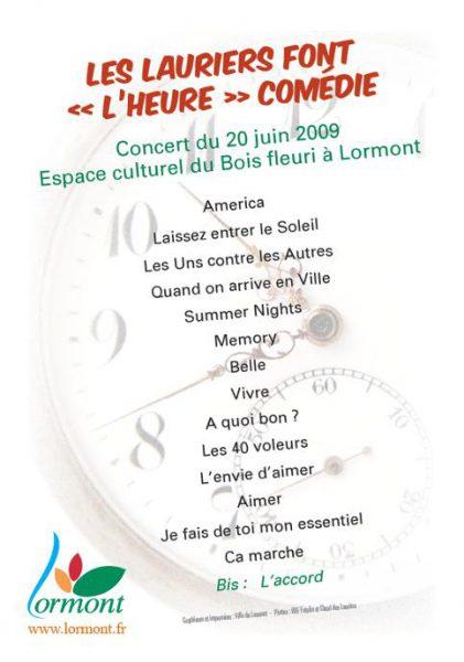 2009-concert-les-lauriers-font-lheure-comedie-programme